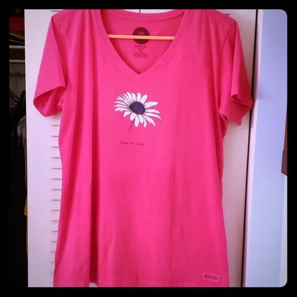 Life Is Good Tops - Life is Good Flower Shirt Sz M